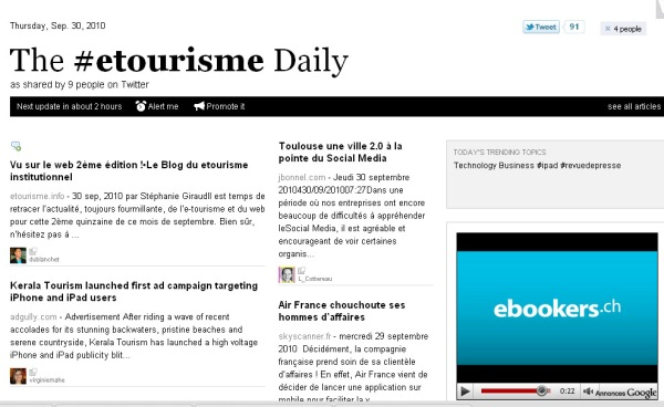 The #etourisme Daily #Paperli