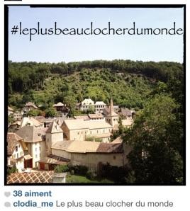 #leplusbeauclocherdumonde (Romainmôtier, tag créé sur Instagram)