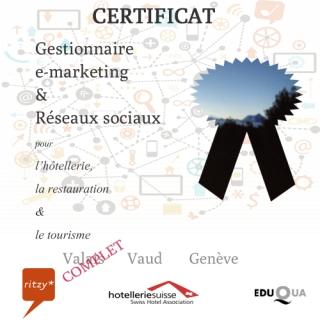 Formation certificat etourisme marketing reseaux sociaux suisse romande COMPLET valais