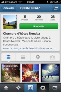 bnb nendaz instagram