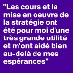 témoignage M. Rossier Chambre d'hôtes Les Cerisiers Sion Diplôme Gestionnaire e-marketing et réseaux sociaux